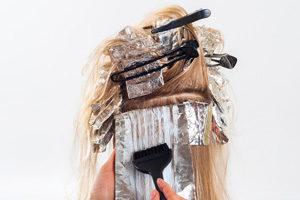 Kappersfolie voor haren verven
